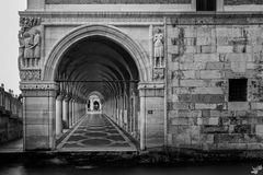 Down the Colonnade