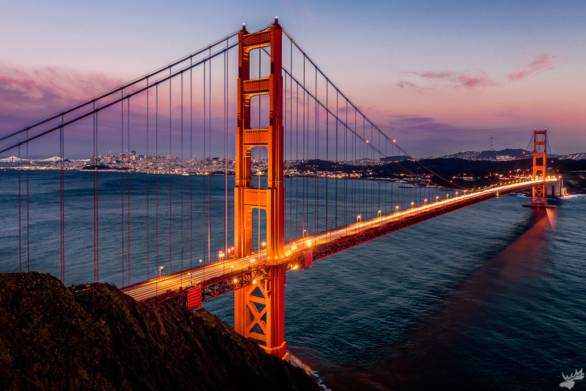 cityscape, cityscapes, Golden Gate Bridge, sunset, San Francisco, fall, bay