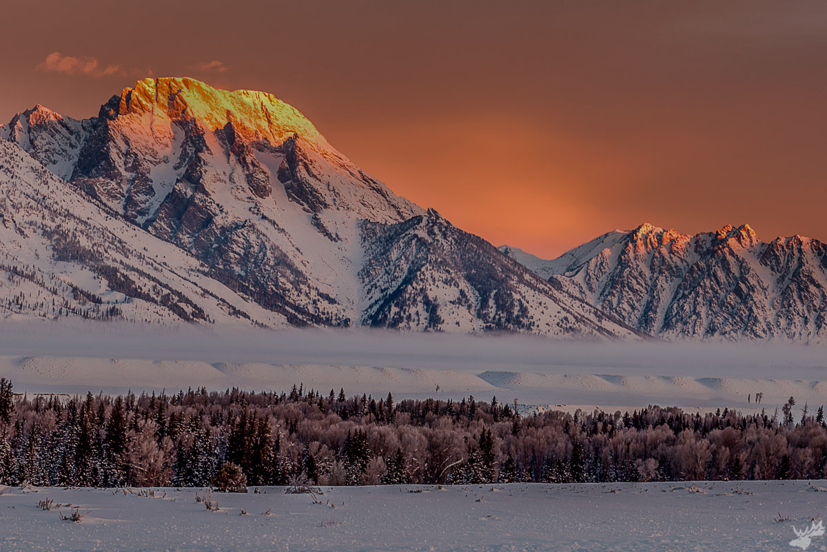 american west, sunrise, winter, mountains