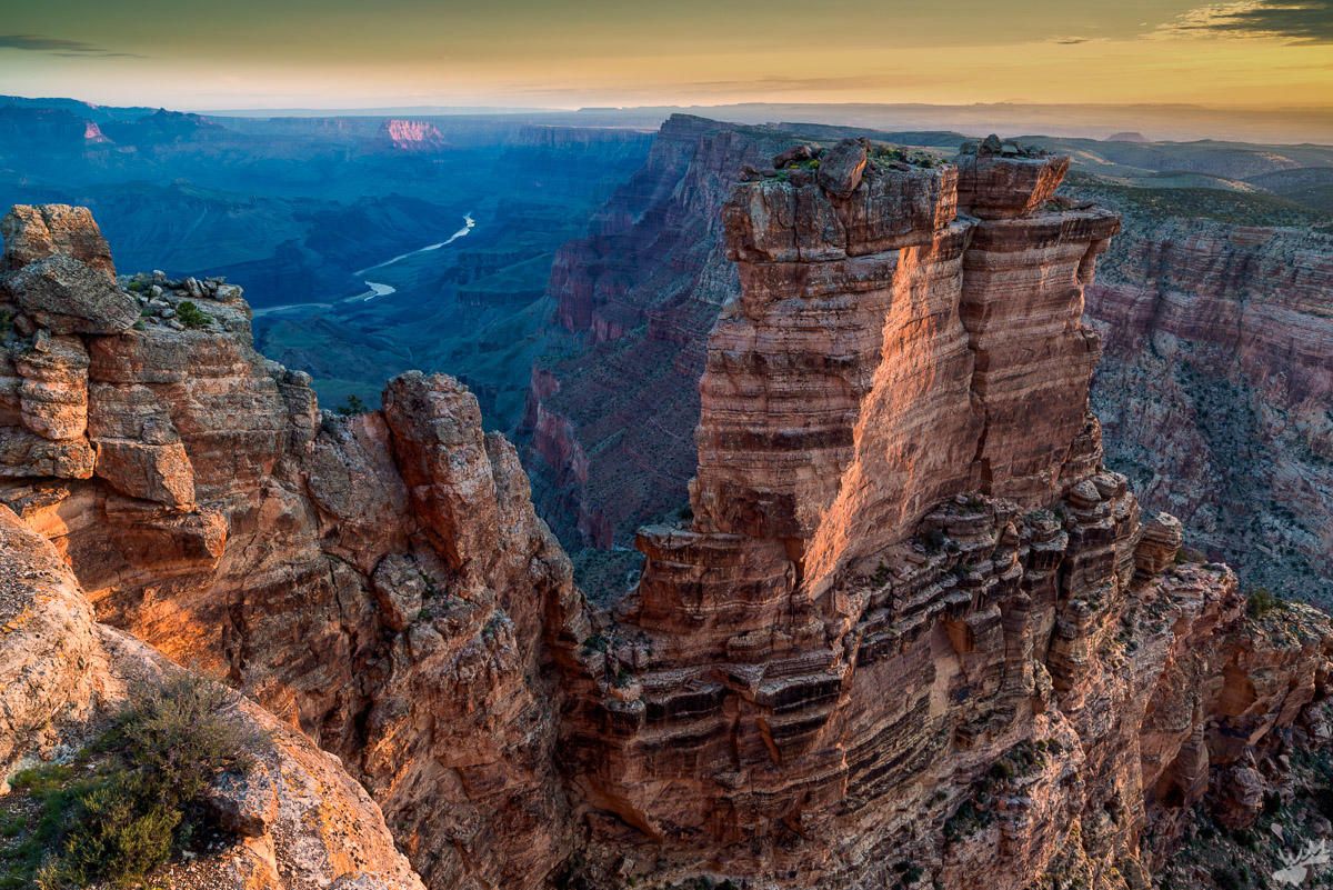 american west, sunrise, grand canyon, spring, canyon