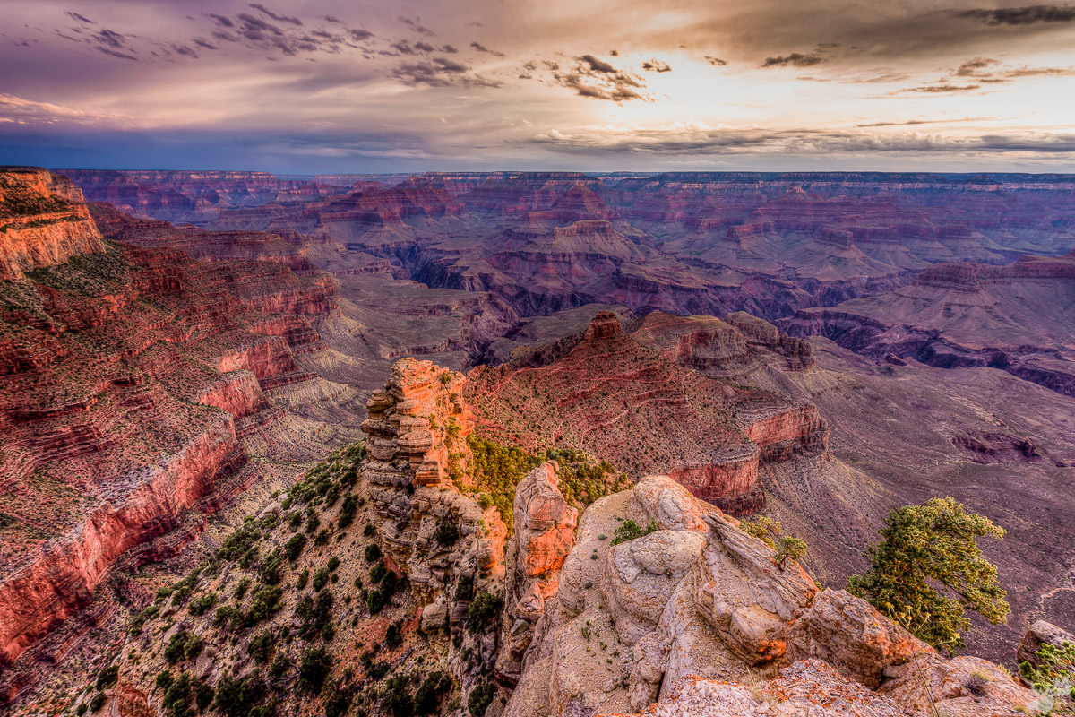 american west, sunset, grand canyon, spring, canyon
